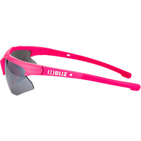 Bliz Hybrid M11 Glasses for Small Faces rubber neon pink/smoke with silver mirror
